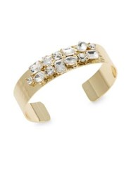 Design Lab Lord And Taylor Crystal Open Cuff Bracelet Gold Pink