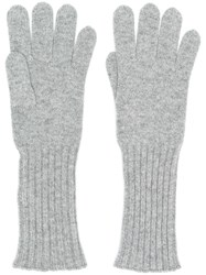 Cruciani Knitted Gloves Grey