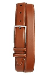 Nordstrom Big And Tall Shop Carter Leather Dress Belt Cognac