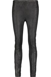 Kaufman Franco Kaufmanfranco Brushed Suede Skinny Pants Black