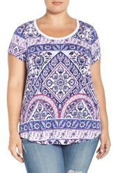 Lucky Brand Plus Size Women's Rug Print Tee