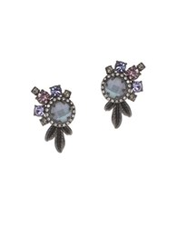 Marchesa Cluster Stud Earrings Silver