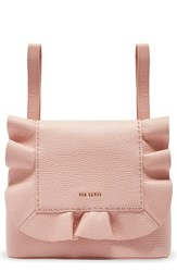 Ted Baker London Rammira Leather Convertible Backpack Pink Light Pink