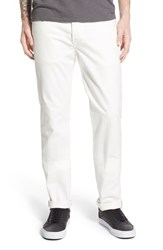 Men's Naked And Famous Denim 'Weird Guy' Slim Fit Selvedge Jeans White Stretch Selvedge