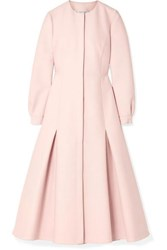 Gabriela Hearst Alejandra Wool Blend Midi Dress Blush