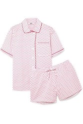 Sleepy Jones Corita Printed Cotton Poplin Pajama Set Baby Pink