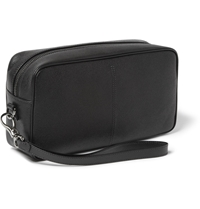 Tod's Textured Leather Wash Bag Black