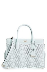 Kate Spade New York Cameron Street Candace Perforated Leather Satchel Blue Island Water