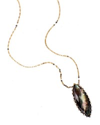 Lana Mystiq Black Mother Of Pearl Necklace Yellow Gold
