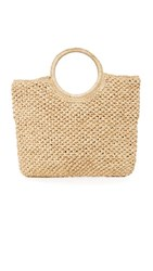 Hat Attack Small Round Handle Bag Natural