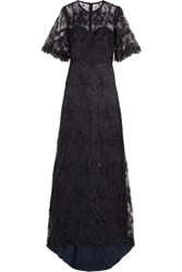 Catherine Deane Grazia Embellished Tulle Gown Black