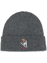 Polo Ralph Lauren Ribbed Knit Beanie Grey