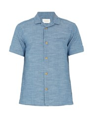 Solid And Striped The Ripley Cotton Shirt Light Blue