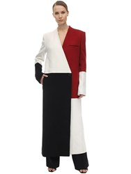 Haider Ackermann Color Block Wool And Cashmere Coat Multicolor