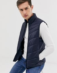 Selected Homme Utility Gilet Blue