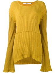 Damir Doma Karis Jumper Women Silk M Yellow Orange