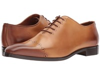 Massimo Matteo Laser Cap Toe Whiskey Lace Up Cap Toe Shoes Brown