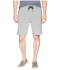 Threads For Thought 4 Feather Fleece Drawstring Shorts Steel Silver