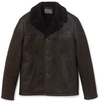 Prada Shearling Jacket Brown