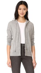 White Warren Essential Zip Hoodie Grey Heather