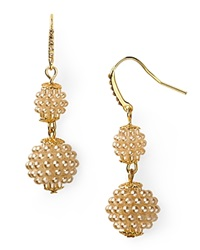 Carolee Double Drop Earrings Gold