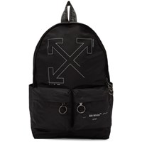 Off White Black Unfinished Backpack