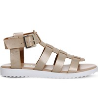 Office Brody Gladiator Faux Leather Sandals Nude