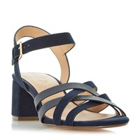Linea Janner Block Heel Strappy Sandals Blue