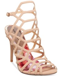 Madden Girl Directt Caged Sandals Women's Shoes Nude
