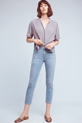 Anthropologie Citizens Of Humanity Rocket High Rise Skinny Cropped Jeans Denim Light
