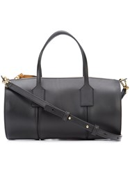 Loewe Logo Embossed Bowling Bag Women Calf Leather One Size Black