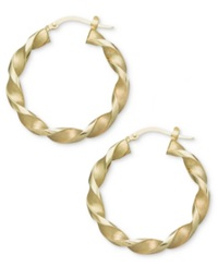 Macy's 14K Gold Earrings Small Twisted Hoop Earrings