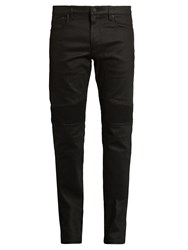 Belstaff Eastham Coated Biker Jeans Black