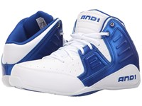 And 1 Rocket 4 Bright White Royal Bright White Men's Basketball Shoes