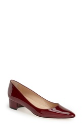 Manolo Blahnik 'Listony' Patent Leather Pump Women Red Patent