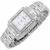 Raymond Weil Parsifal Ladies' Diamond Frame Mother Of Pearl Date Watch Silver