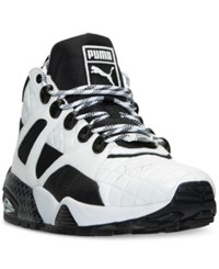 Puma Men's Blaze Of Glory Sock Boot Quilted Casual Sneakers From Finish Line Puma White Puma Black
