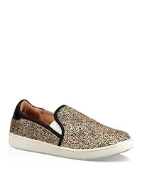 Ugg Women's Cas Printed Calf Hair Slip On Sneakers Beige