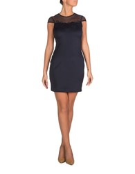 Guess Floral Bodycon Dress Navy