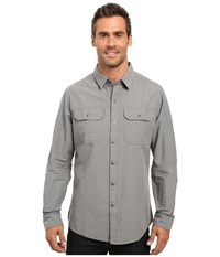 Kuhl Sting Long Sleeve Shirt Smoke Men's Long Sleeve Button Up Gray
