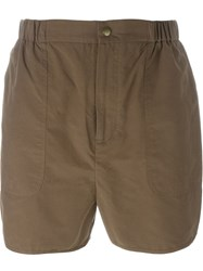 Henrik Vibskov 'Dot' Short Elastic Waist Swim Shorts Brown