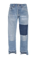 Nili Lotan Franki Patch Jeans Light Wash