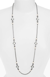 Konstantino 'Selene' Long Station Necklace Silver Gold