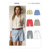 Vogue Women's Shorts Sewing Pattern 9008
