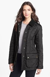 Women's Barbour 'Beadnell' Quilted Jacket Black