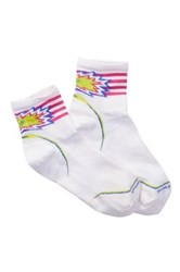 Smartwool Phd Cycle Ultra Light Pattern Mini Crew Socks White