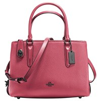 Coach Brooklyn 28 Leather Carryall Tote Bag Rouge