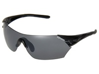 Tifosi Optics Podium Interchangeable Matte Black Smoke Ac Red Clear Lens Athletic Performance Sport Sunglasses