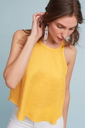 Anthropologie Sleeveless Swing Top Gold