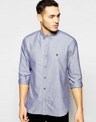 French Connection Long Sleeve Oxford Shirt Navy